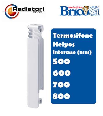 TERMOSIFONE Radiatore 6 ELEMENTI In ALLUMINIO GLOBAL Interasse 500 600 700 800