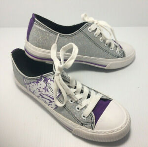 FOCO NCAA Clemson Tigers Womens Glitter Low Top Canvas Shoesglitter Low Top Canvas Shoes 10//XX-Large Team Color