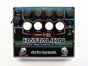 Used-Electro-Harmonix-EHX-Battalion-Bass-Preamp-DI-Pedal-w-Power-supply