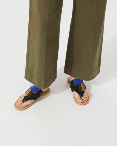 Jigsaw Manzur Embroidered Sandals Womens New Blue