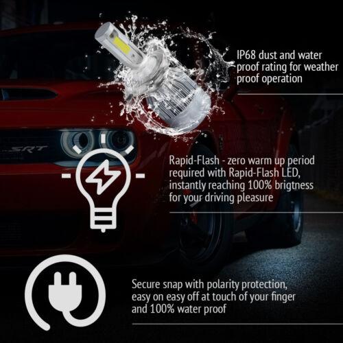2x H4 9003 HB2 LED Headlight Conversion Hi//Lo Beam Light Bulbs Kit 6500K White