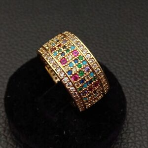 18k-gold-plated-colorful-Cz-pave-band-finger-ring-women-jewelry-size-6-7-8-9