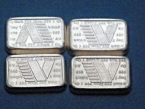 1981 A Mark Usvi Silver Stacker Bars 1oz 999 Fine 4
