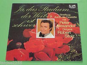 Peter-Alexander-Robert-Stolz-Ja-das-Studium-der-Weiber-ist-schwer-Eurodisc-LP