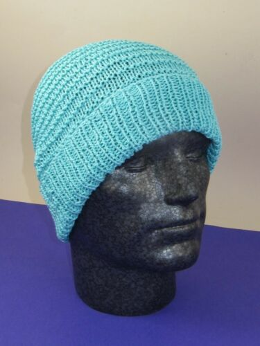 SIMPLE STRIPEY SPRING BEANIE HAT  KNITTING PATTERN PRINTED KNITTING INSTRUCTION