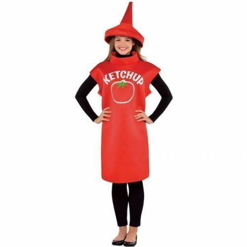 Adult Red Tomato Fruit Spicy Mustard Costume Outfit Fancy Dress  Halloween