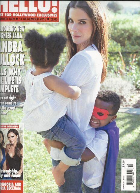 Hello magazine Sandra Bullock Eva Longoria Victoria Beckham Prince Harry