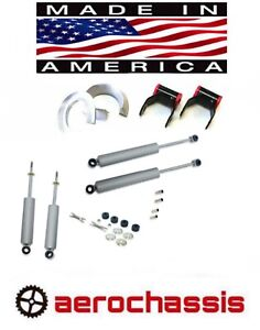 """S10 LIFT KIT 3/"""" FORGED SPACERS 2/"""" SHACKLES DOETSCH TECH NITRO SHOCKS 2WD 17 USA"""