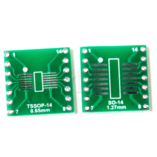 5pcs SO/SOP/SOIC/SSOP/TSSOP/MSOP14 to DIP 14 Adapter PCB Board Converter H5