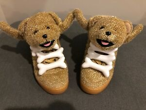 Image is loading Adidas-Jeremy-Scott-Gold-Christmas-Tinsel-Teddy-Bear- 747d74deb5af