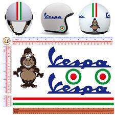 adesivi casco gorilla strisce flag italia vespa sticker helmet tuning decal 6 pz