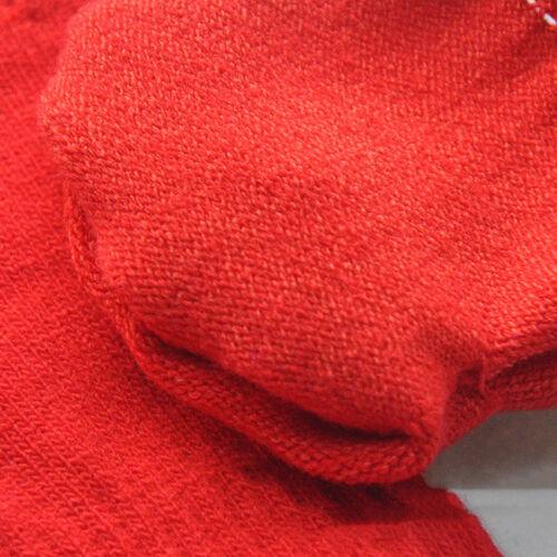 Solid Color Kids Winter Soft Plush Half Finger Fingerless Warm Gloves G