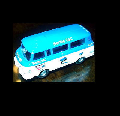 H0 1:87 Å √ A Plastic Case Is Compartmentalized For Safe Storage Model Building Well-Educated Hertha Bsc Barkas Bus By Ses Or Minicar