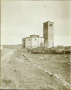 Spagna Ségovie Chiesa Da La Vera Cruz c1900, Foto Stereo Placca Lente VR9L10n9