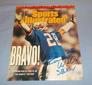 f10cc8024 Image is loading NY-Giants-Everson-Walls-Signed-Autographed-8x10-Photo-