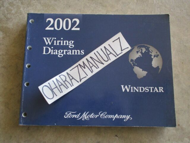 2002 Ford Windstar Wiring Diagrams Manual Oem