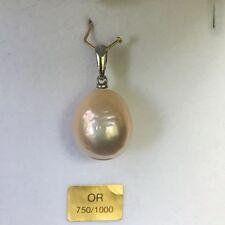 PENDENTIF PERLE DU SUD VERITABLE COULEUR OR 15MMX14MM EN OR JAUNE 750/000