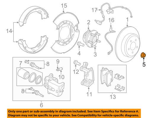 Freio Chrysler OEM-Front-Hub /& Porca Do Rolamento 6509598AA