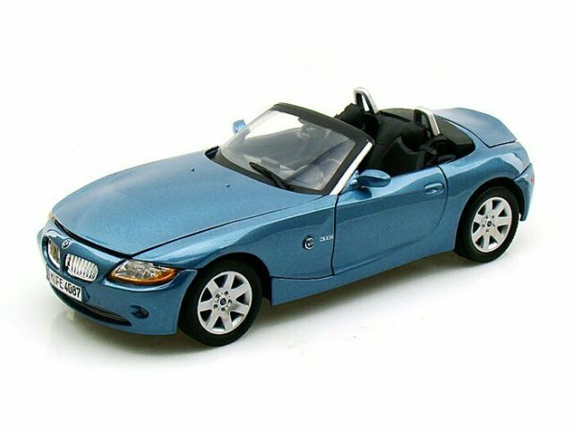 1 18 Scale Bmw Z4 Convertible Blue Diecast Motor Max For Sale Online