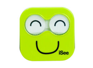 NEW-iSee-Lime-Green-Contact-Lens-Eye-Care-Kit