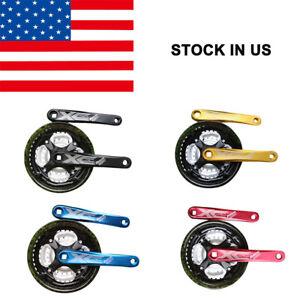 Bicycle-Crankset-MTB-Mountain-Road-Bike-Crank-Sprocket-24-34-42T-7-8-9-Speed-US