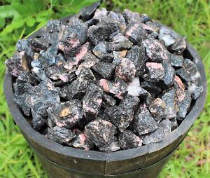 1 lb Bulk Lot Natural Rough Rhodonite (Raw Crystal Rock Mineral Chakra 16 oz)