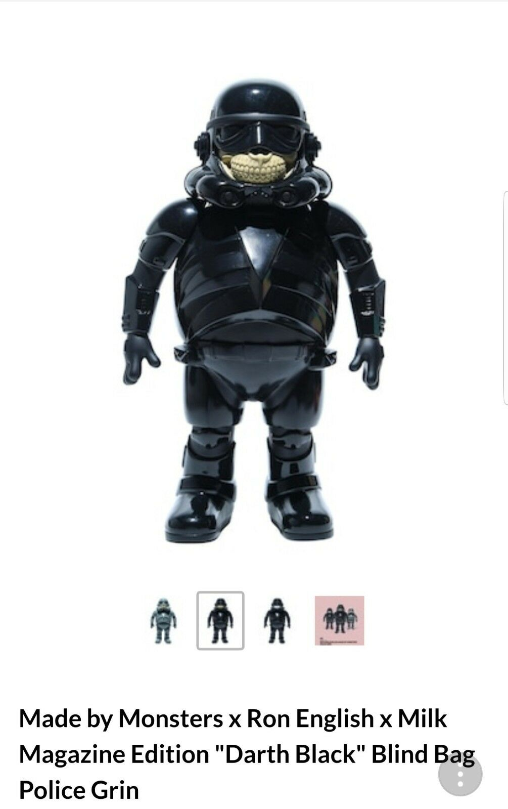 Ron Inglés   FIRMADO policía Grin (Darth Storm Trooper Negro) solo 333