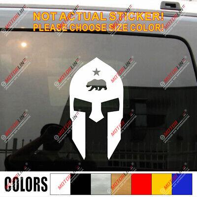 Spartan Mask Sparta California Bear Star Decal Sticker Car Vinyl pick size color