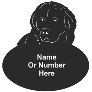 St Bernard Dog Metal Oval House Plaque
