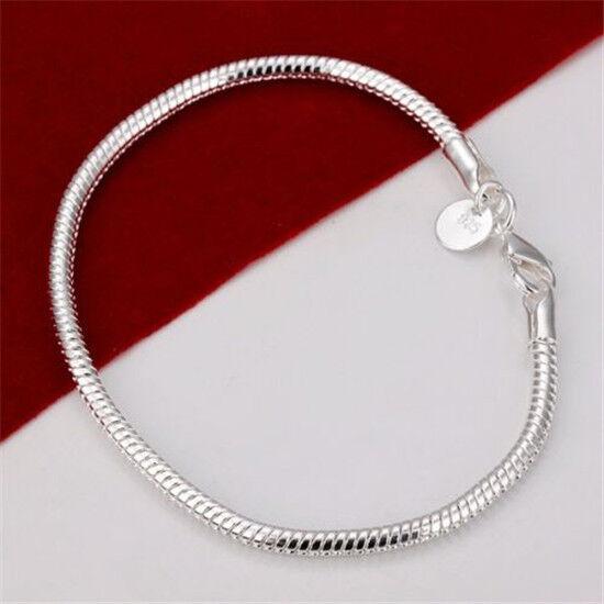 Wholesale Price Hot Fashion 925sterlin Silver Beautiful Bracelet Bangle+Gift Box