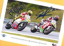 Valentino ROSSI - Stefan BRADL - TOP AK Bild - Print Copie + 2 Moto AK signiert