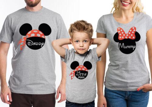 di grigi shirt 4 personalizzati mouse alla abbinati T testo o famiglia 2 con Set 5 e 3 qPH5Hx4w