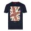 Ben Sherman 50058 Union Jack football pitch print navy 100/% cotton t-shirt