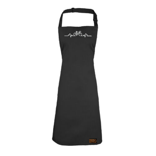 Pulse Bicycle Cycling Apron Funny Novelty Kitchen Cooking