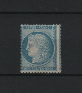FRANCE-STAMP-TIMBRE-60-B-034-CERES-25c-BLEU-TYPE-II-034-NEUF-x-TB-RARE-SIGNE-T684