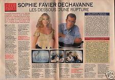 Coupure de presse Clipping 1993 Sophie Favier Christophe Dechavanne (2 pages)