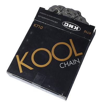"""KMC K710 1/2""""X1/8"""" 112L BMX/SINGLE SPEED/FIXIE BIKE CHAIN SILVER/SILVER"""