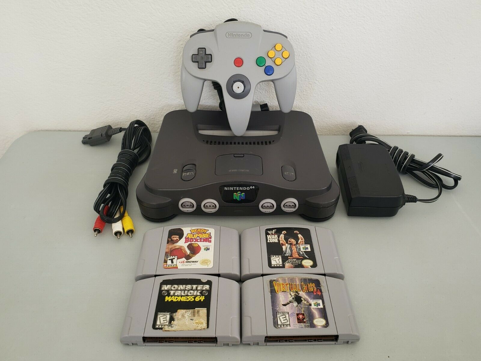 Nintendo 64 N64 Console W/ Gray Controller & 4 Games Bundle; Ready 2 Rumble on eBay thumbnail