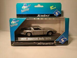MASERATI-Indy-1801-1970-1-43-SOLIDO-NEW-In-BOX-NIB
