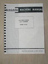 Niagara 8 8 Circle Shear Amp Flanger Instruction Amp Parts Manual