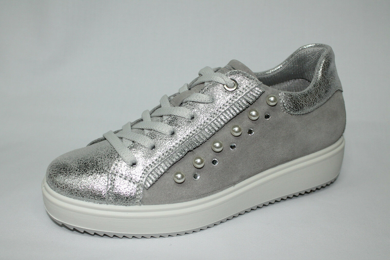 Sneakers Igi&co 1148722 argento zeppa 3cm Made in  listino - 20%