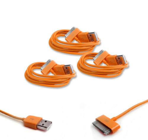NEW 3X 3FT USB TO 30PIN ORANGE CABLE CORD DATA CHARGER FOR GALAXY TAB TABLET
