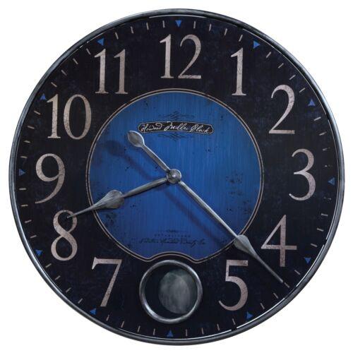 "625-568  HOWARD MILLER 26 1//4/"" DIAMETER BLUE  WALL CLOCK WITH PENDULUM 625568"