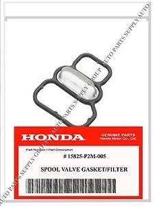 NEW GENUINE HONDA VTEC VariableTiming Spool Solenoid Valve Filter / Gasket