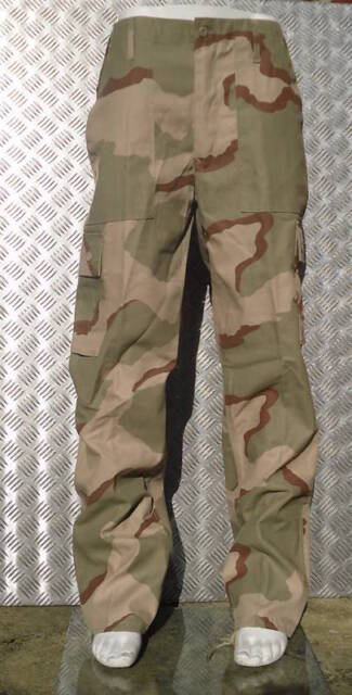 "Military Style Desert Storm Tri Colour Camo Combat Trousers Size 42"" - 46"" NEW"