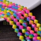 New 50pcs 6mm Bicone Faceted Glass Loose Spacer Colorful Beads Rose&Blue&Yellow