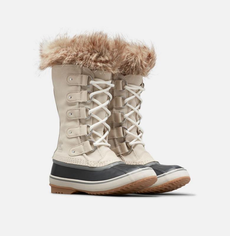 Sorel Women's Joan of Arctic Winter Boots 1855131/278 Dark Stone/Sea Salt NEW