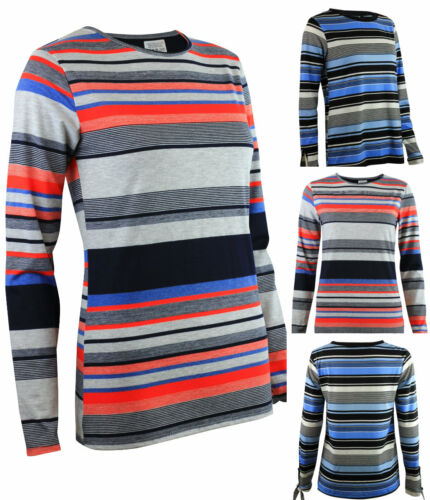 Dorothy Perkins casual Striped Long sleeved Top Tee Stripe black navy Red Blue