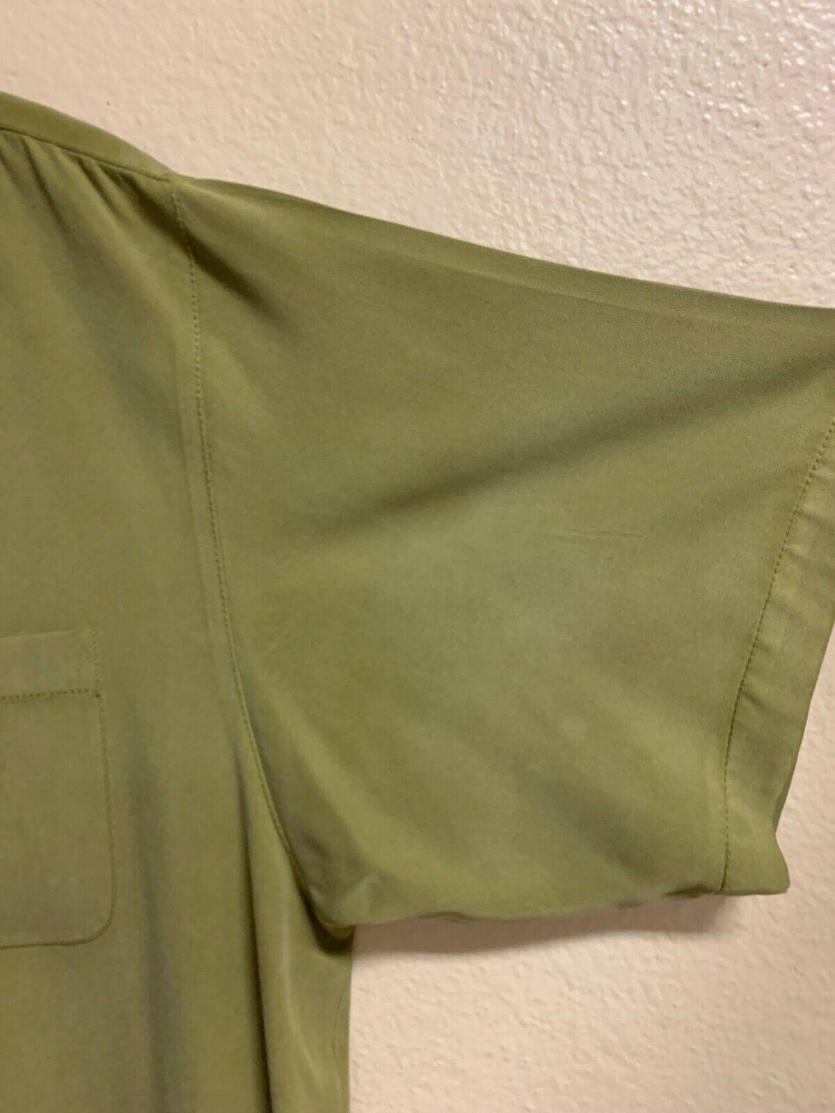Green Tommy Bahama 100% Silk Shirt - image 2