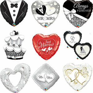 Image Is Loading Qualatex Wedding Foil Party Balloons For Helium Just
